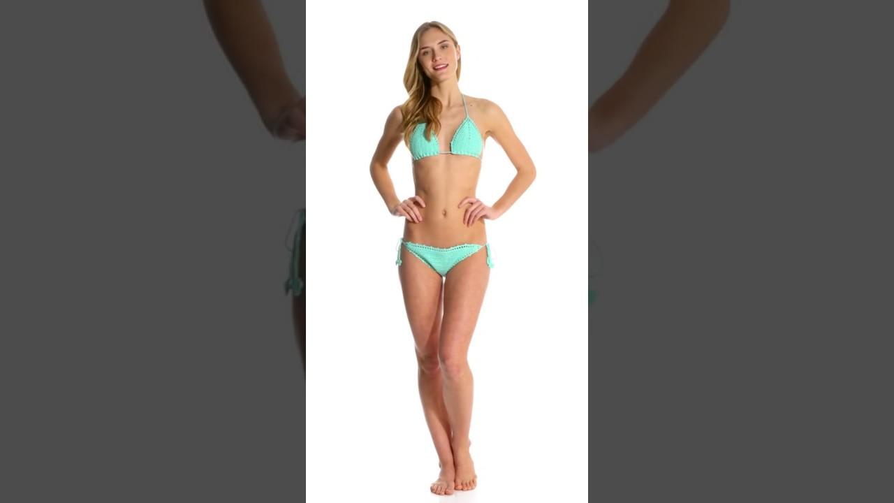 c98f751be0 Bikini Lab Swimwear Take It Or Weave It String Tie Side Bikini Bottom