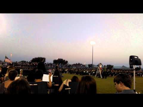 Viera high school 2014 graduation cap throwing