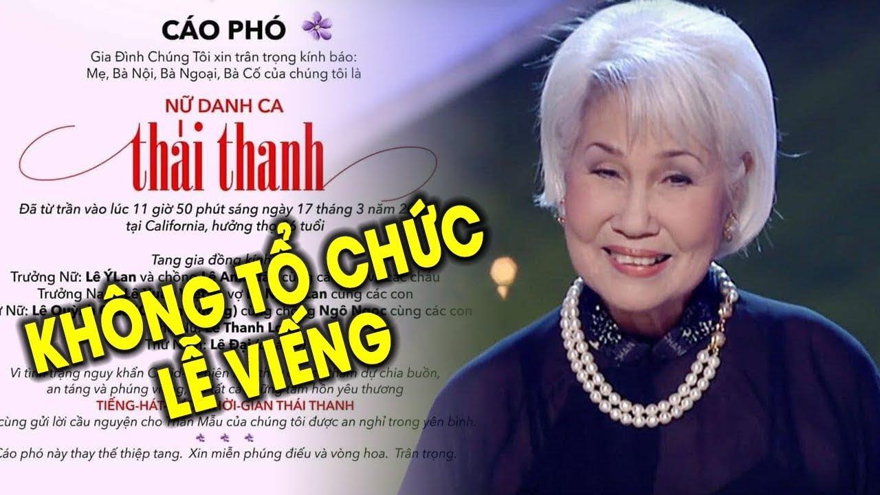 Gia đình danh ca Thái Thanh bất ngờ THÔNG BÁO, khán giả mộ điệu ĐAU BUỒN vì không thể ĐƯA TIỄN!
