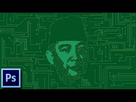 Printed Circuit Board (PCB) Portrait | Tutorial Photoshop