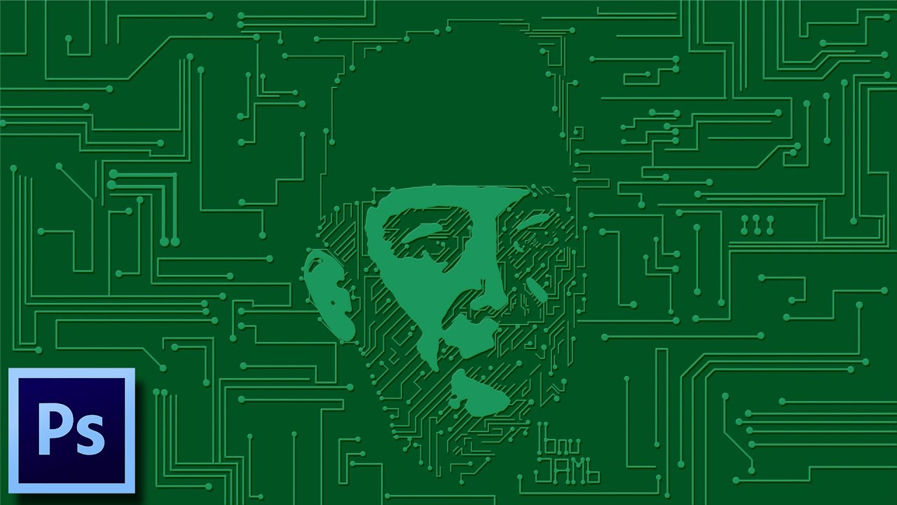 Printed Circuit Board Pcb Portrait Tutorial Photoshop Youtube Making Boards