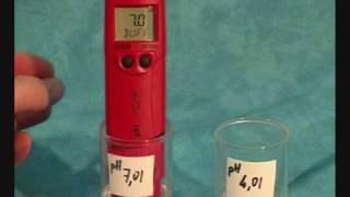 Hydroponique - Testeur ph etalonnage en 2points