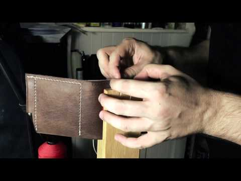 How to make a tri-fold wallet from a single piece of leather
