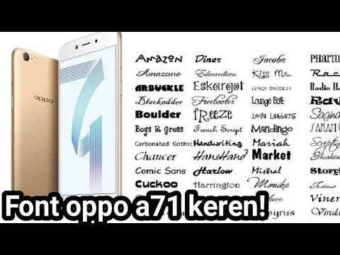 Font Oppo A71 Indonesia Keren Youtube