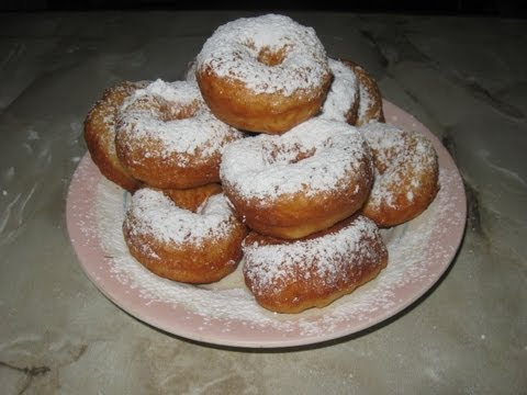 Пончики - колечки ( самые простые)