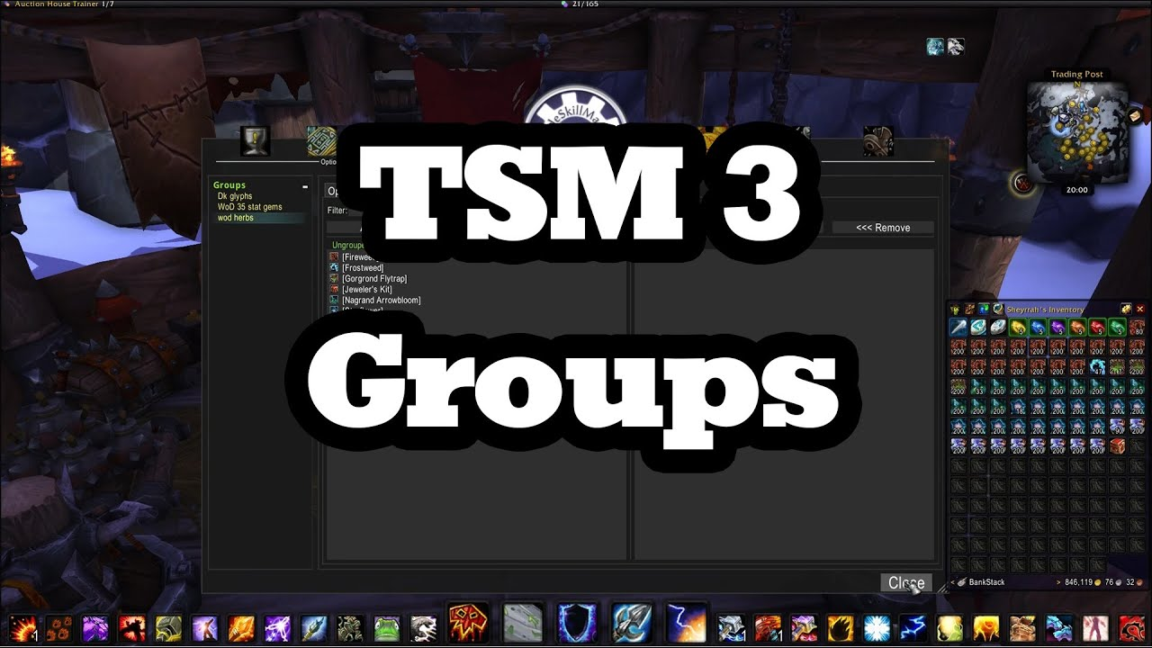 TSM 3 - How to set up groups