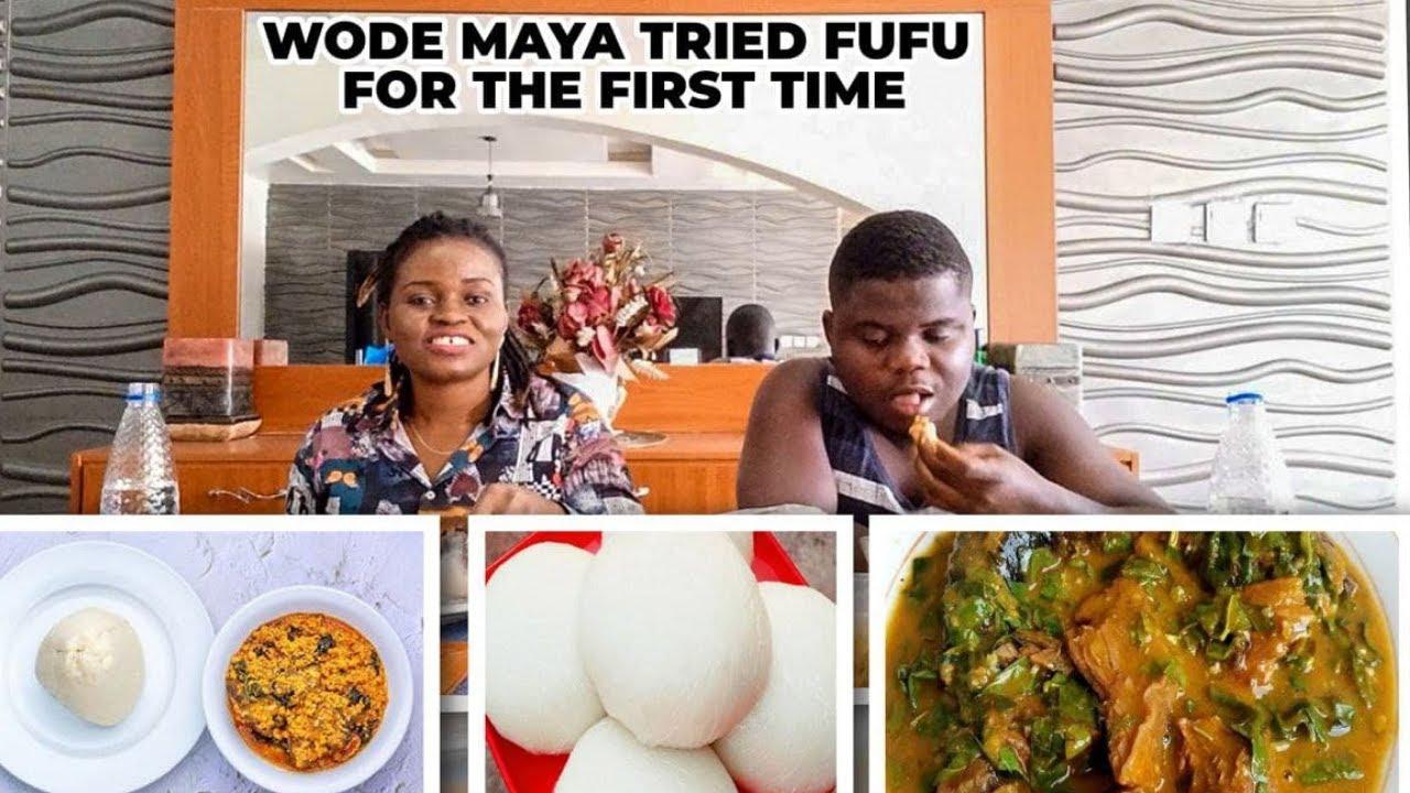 Download #WodeMaya tries Nigerian Fufu & Oha Soup for the First Time | Q&A #fufuchallenge @WODE MAYA