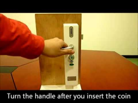 Prefect Lockers Wc Door Coin Lock Operation Youtube