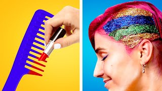 LONG VS SHORT HAIR PROBLEMS || Cool Hair Hacks And Tips And Relatable Situations by Crafty Panda How