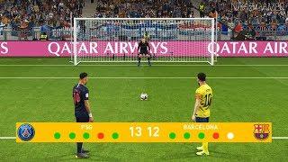 PSG vs Barcelona | Penalty Shootout | F. De Jong to Barcelona | Messi vs Neymar | PES 2019 Gameplay