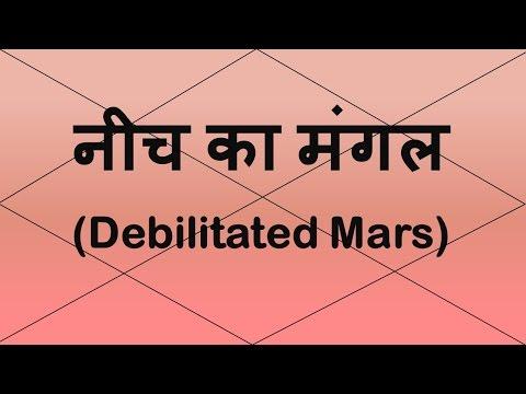 Mars Debilitated/नीच का मंगल (कर्क राशी