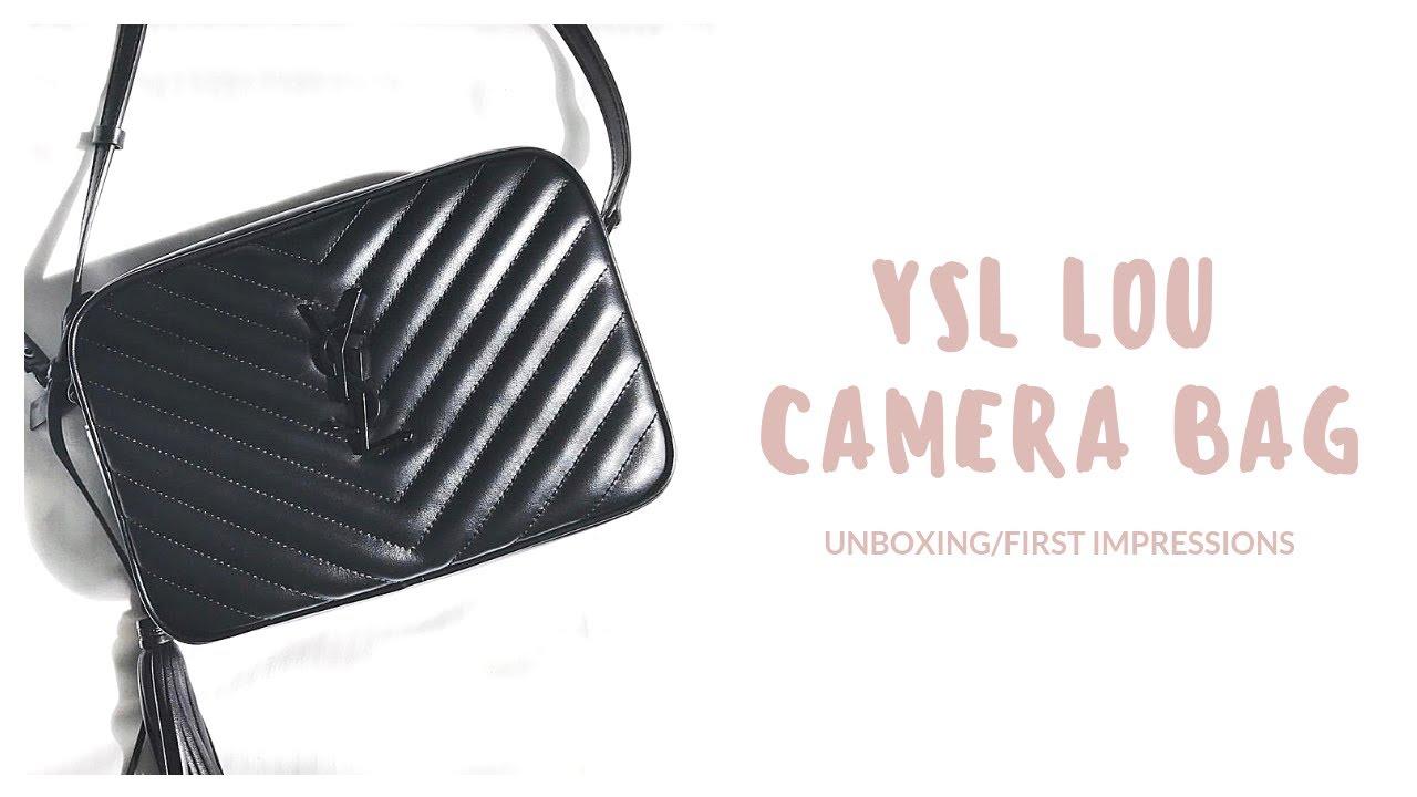 Ysl Lou Camera Bag Unboxing Black Hardware Christmas