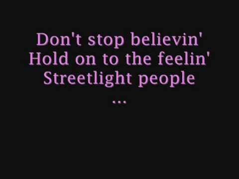 Journey  Dont Stop Believin LYRICS