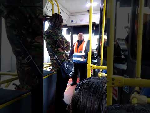 Brylaine bus incident: passenger jumps on bus and argues with driver for leaving early