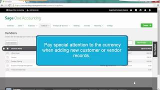 Sage One Accounting U.S. - Using multiple currencies