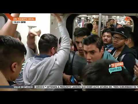 Intento de robo en el Metro en vivo