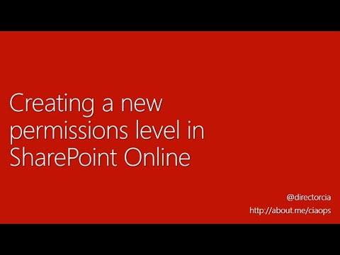 Creating a new permissions level with SharePoint Online ...