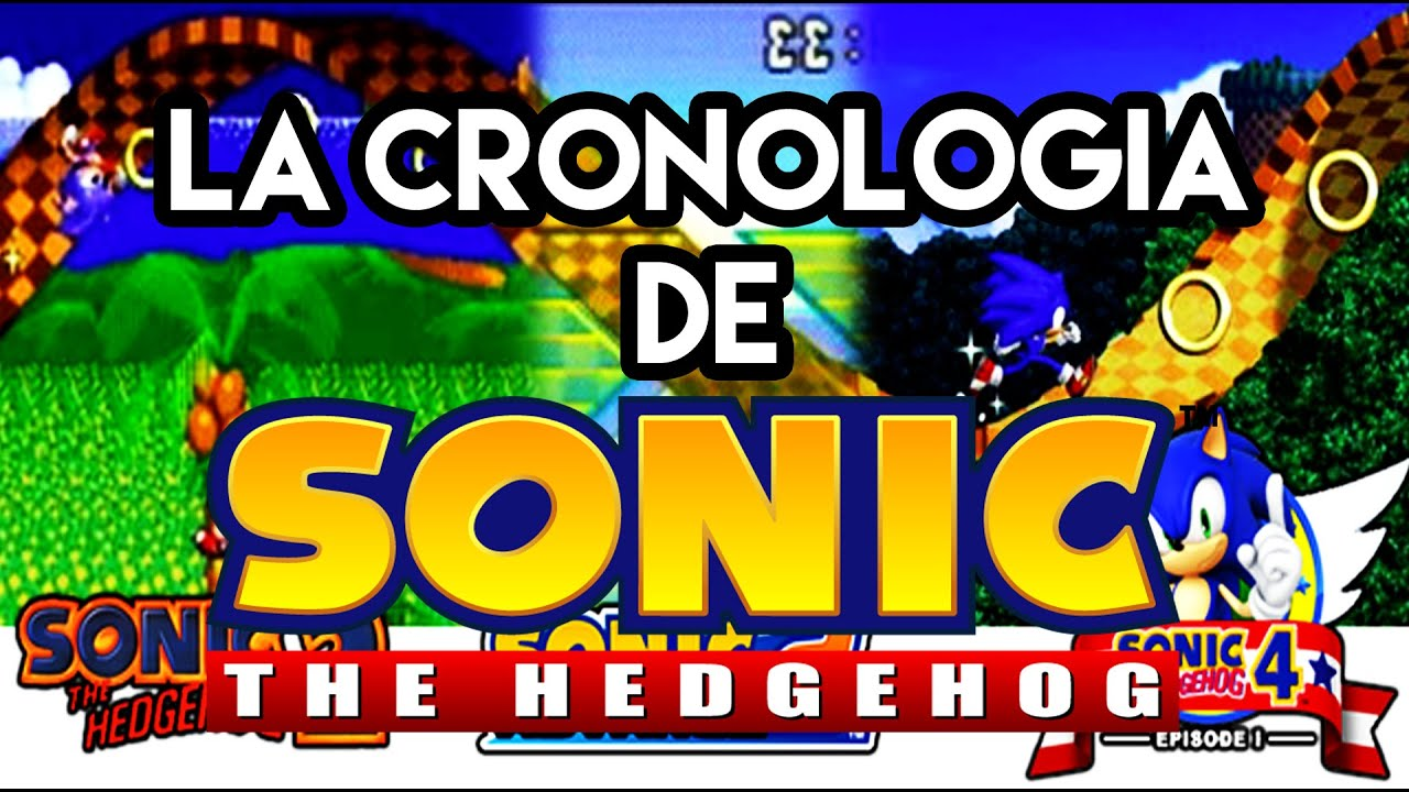 LA CRONOLOGA DE SONIC THE HEDGEHOG JUEGOS  YouTube
