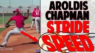 Baseball Pitching Lesson | Aroldis Chapman Speed Stride (Pro Speed Baseball)