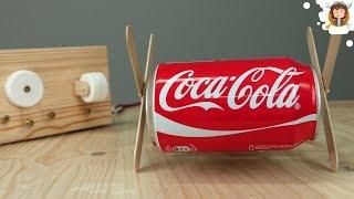 Como fazer um Carrinho / Robô - (Coca- Cola que Anda)