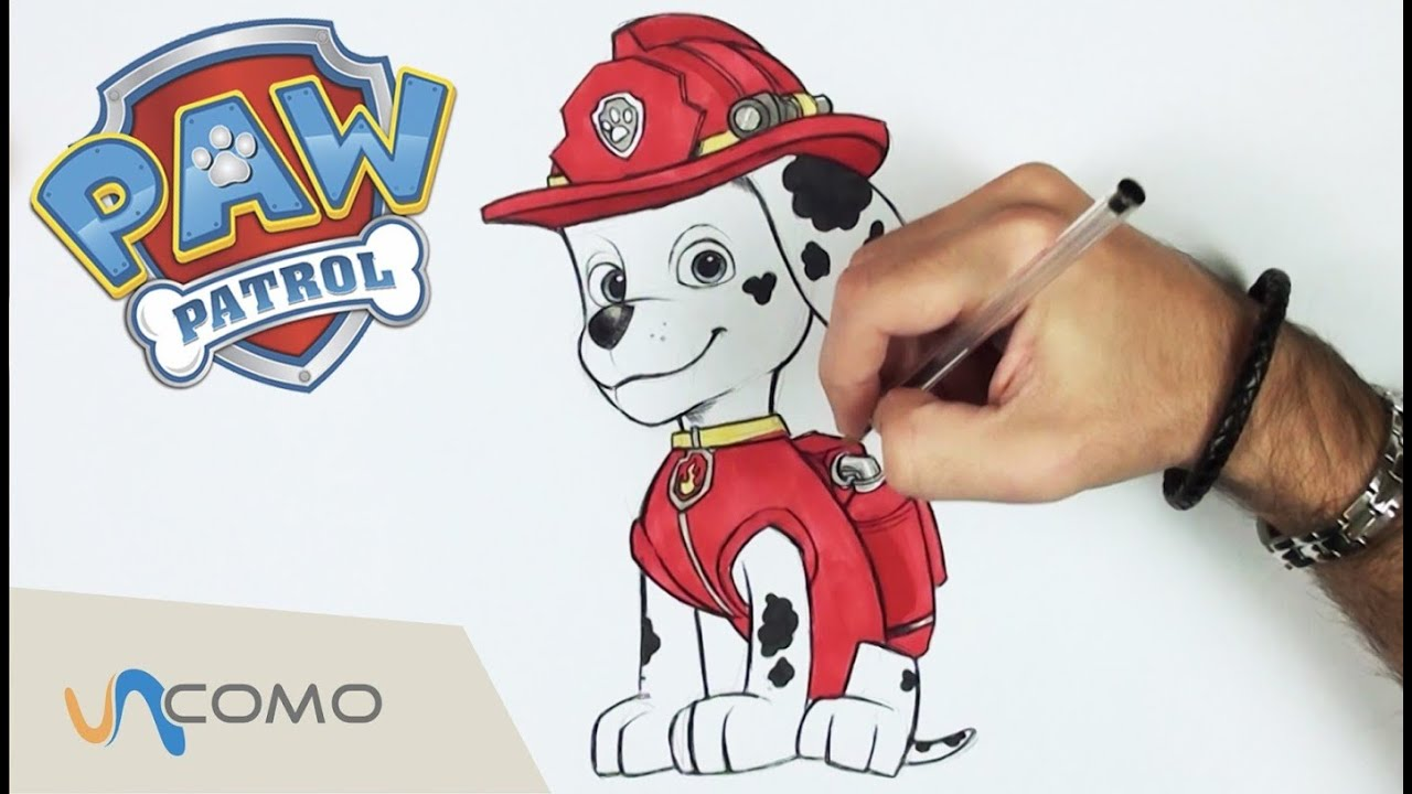Cómo Dibujar A Marshall De Patrulla Canina