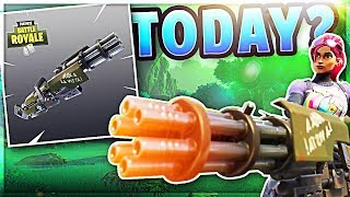 *NEW* UPDATE // Fortnite Battle Royale // Mini Gun Coming!!