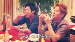JYJ COO いちいち可愛いジュンス♡ ユチョンにどうしてもフルーツを食べ...