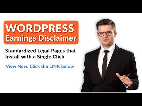 Wordpress Earnings Disclaimer - tos, privacy policy and earnings disclaimer