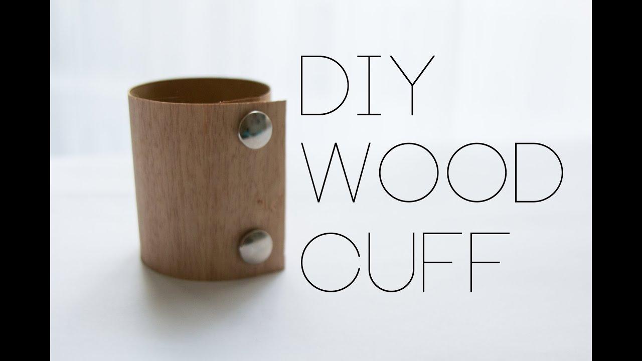 diy easy wood cuff bracelet holz armband youtube. Black Bedroom Furniture Sets. Home Design Ideas