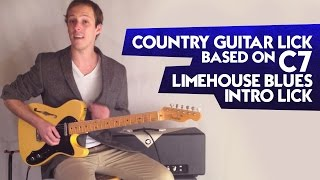 Country Guitar Lick Based On C7 - Limehouse Blues Intro Lick
