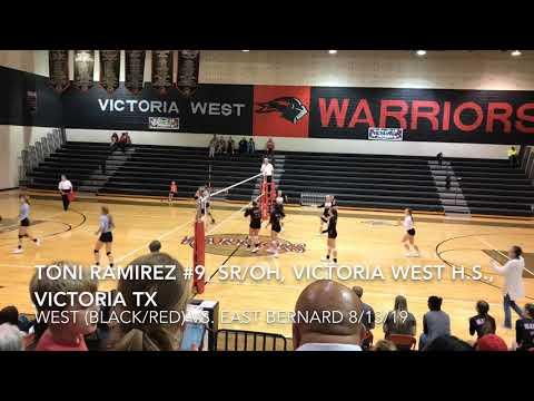 Toni Ramirez, #9, SR/OH, Victoria West High School, Victoria TX