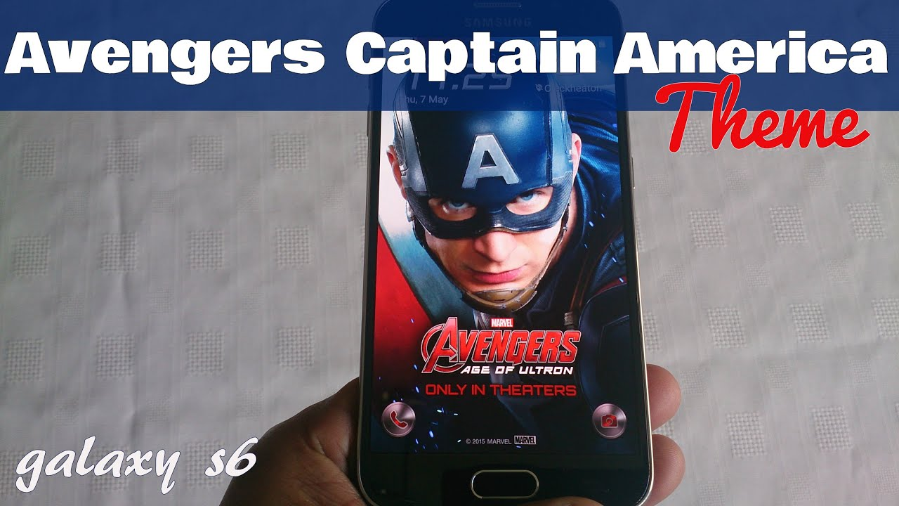 samsung galaxy s6 s6 edge avengers captain america theme youtube. Black Bedroom Furniture Sets. Home Design Ideas