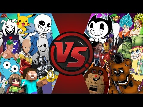UNDERTALE vs BENDY vs FNAF vs ANIME vs CARTOONS & MORE! CFC ULTIMATE SD EP 184!