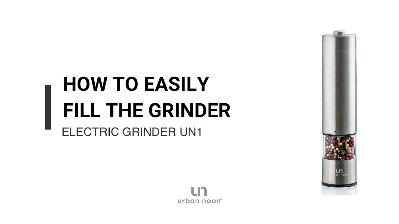 How to easily fill electric salt & pepper grinder UN1