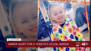 Amber Alert Issued For Missing 3-year-old Girl From KCK