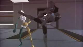 Stuntman fights himself using Motion Capture [Eric Jacobus]