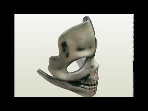 paper Skull mask Pepakura Model