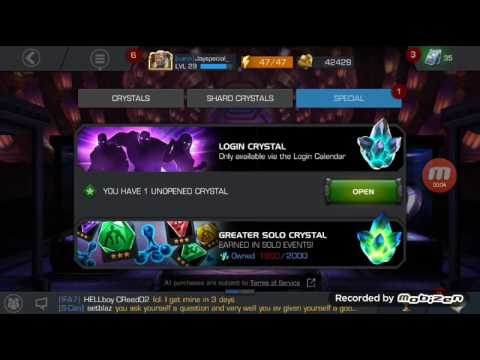 Opening 2 daily log in Gambit crystals 😱|Marvel Contest of Champions
