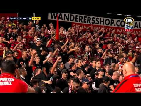 "Mark Bridge Goal + WSW Crowd singing ""Melbourne boys are still number 2"""