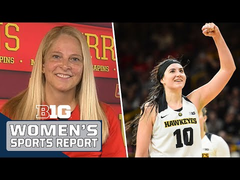 Brenda Frese, Megan Gustafson and Other B1G Players Talk 201