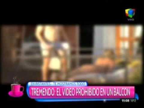 El video prohibido de Flor Zaccanti: ¿quién es el hombre que la acompaña en el balcón?