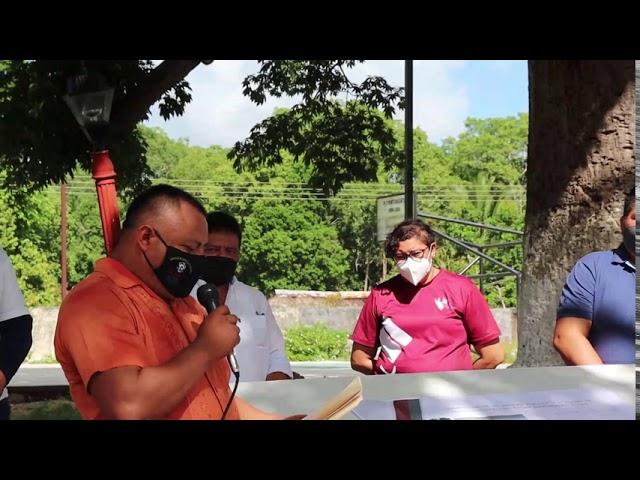 Iniciaron los trabajos de rehabilitación de parques públicos y/o plazas en la comisaría de Xuilub