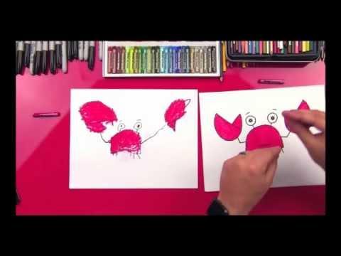 Hướng dẫn bé vẽ con cua