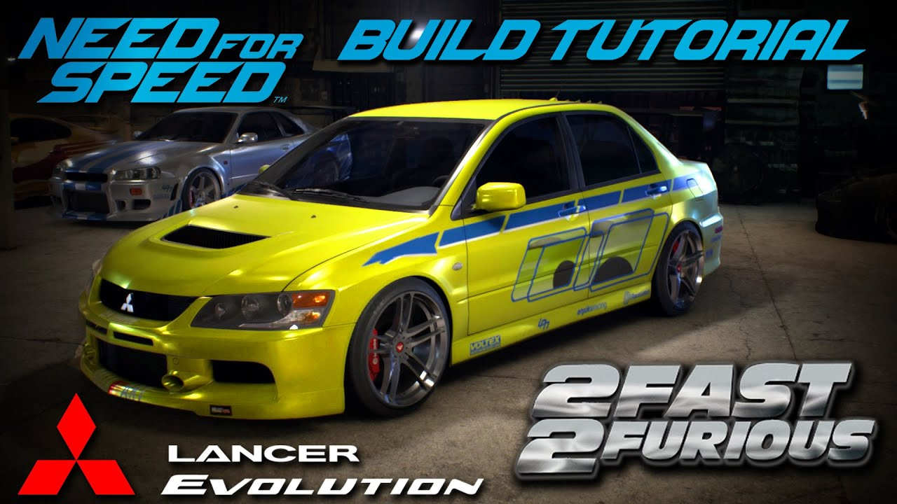 need for speed 2015 | 2 fast 2 furious brian's mitsubishi evo