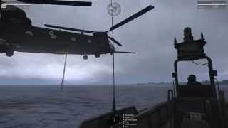 Underwater Ops & Chinhook Boat Pickup ArmA 3 Ghostland