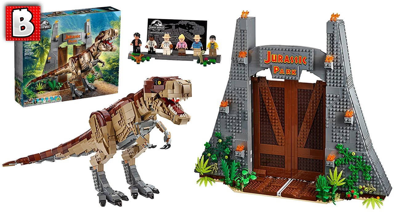 LEGO Jurassic Park T. rex Rampage Set 75936 Official Pictures and Breakdown