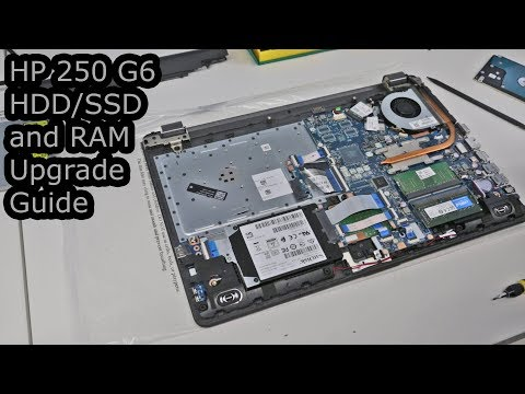 HP 250 G6 HDD/SSD and RAM Upgrade Guide - YouTube