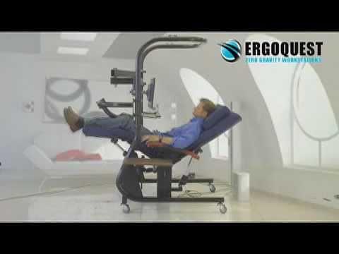 Ergoquest Zgc 3 Zero Gravity Chair Workstation Youtube