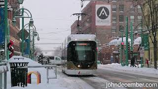 Snow Ride!  Take a ride on The Hop, Milwaukee, Wisconsin