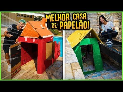 QUEM FAZ A MELHOR CASA DE PAPELÃO COM COISAS DA CASA!! [ REZENDE EVIL ]